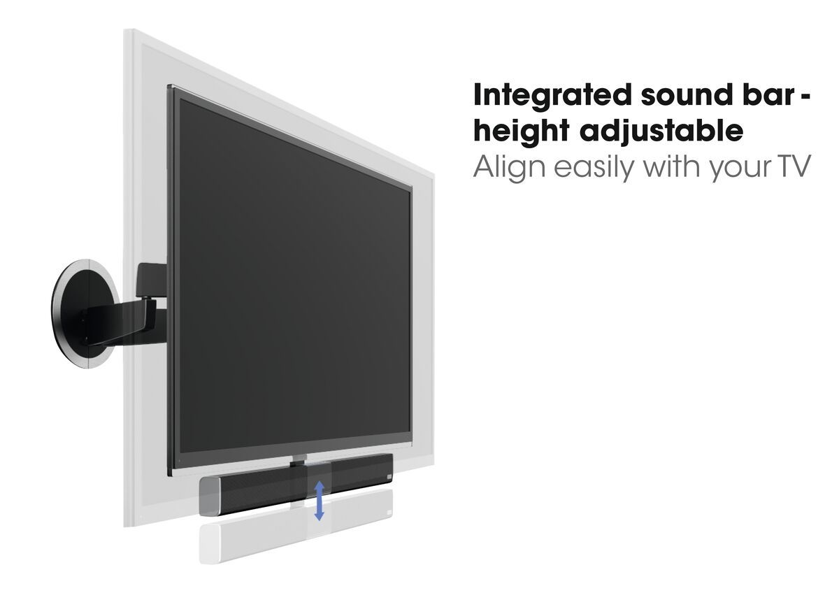 Vogel's SoundMount (NEXT 8365) Full-Motion TV Wall Mount with Integrated Sound 40 65 30 Motion (up to 120°) USP