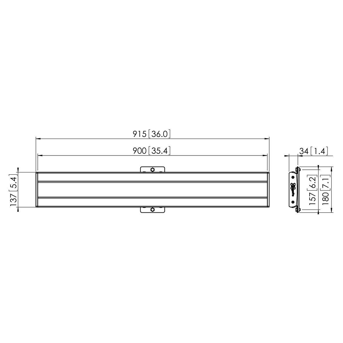 Vogel's PFB 3409 Display interface bar silver - Dimensions