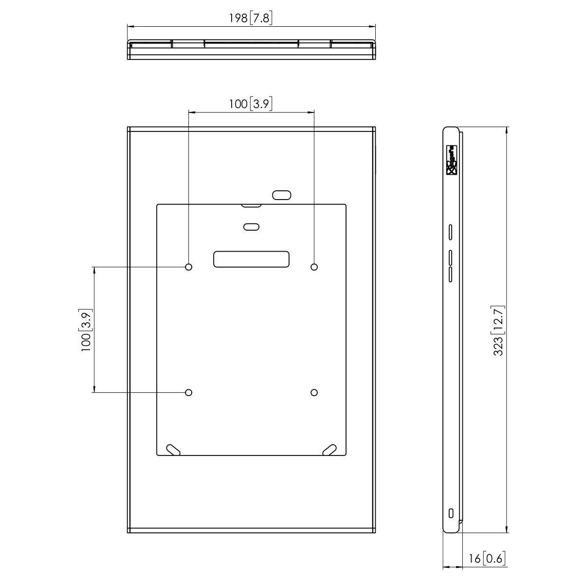 Vogel's PTS 1221 TabLock for Samsung Galaxy Tab A 9.7 - Dimensions