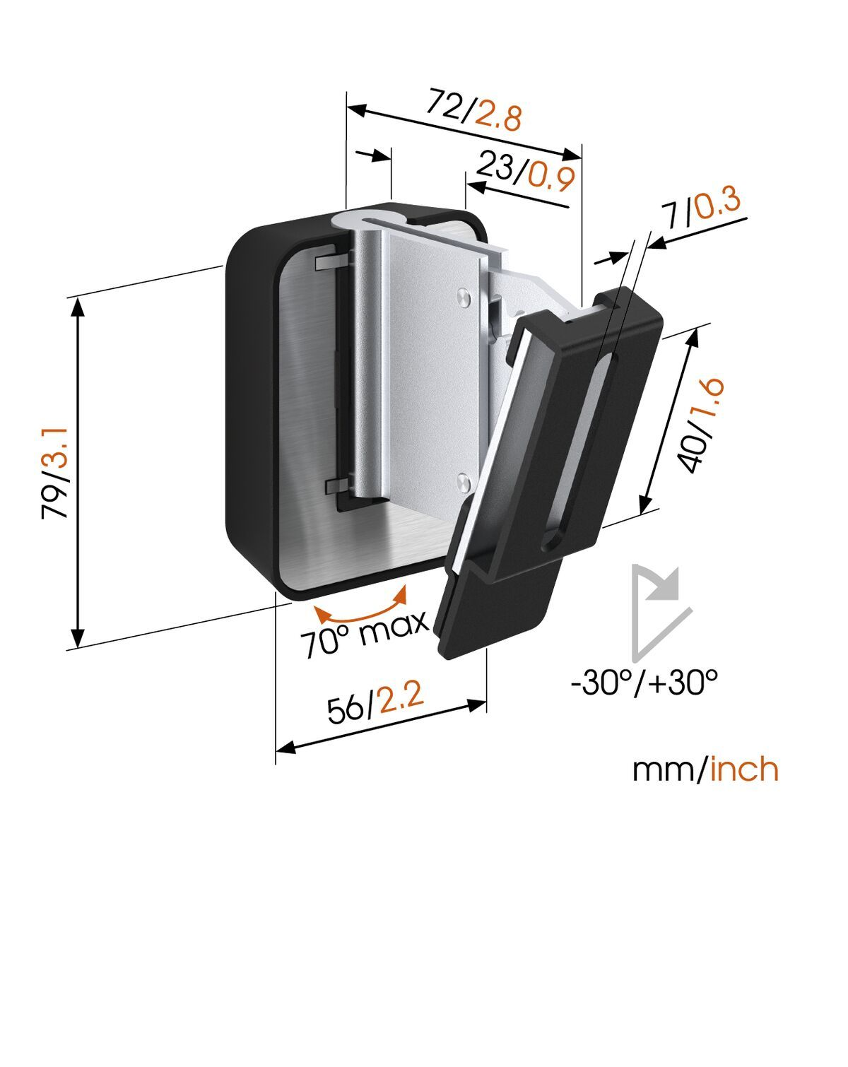 Vogel's SOUND 3200 Speaker Wall Mount (black) - Ideally suited for: Universal - Max. weight load: 5 kg - Dimensions