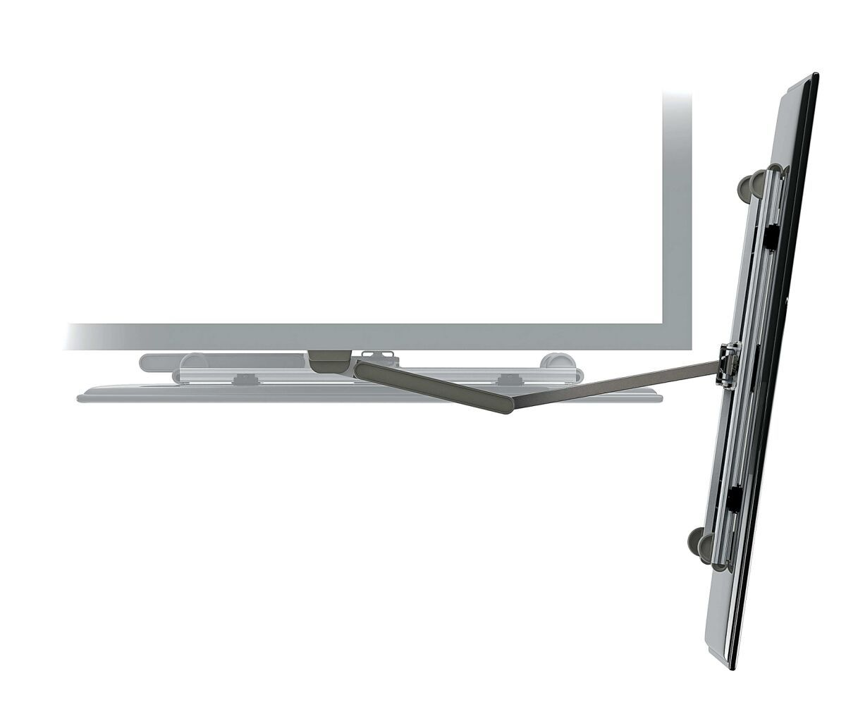 Vogel's THIN 245 UltraThin Full-Motion TV Wall Mount (white) - Suitable for 26 up to 55 inch TVs - Full motion (up to 180°) - Tilt up to 20° - Top view