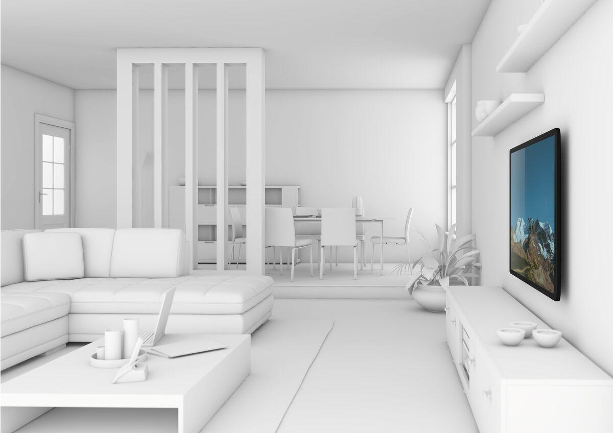 Vogel's THIN 205 UltraThin Support TV Fixe - Convient aux téléviseurs de 26 à 55 pouces jusqu'à 25 kg - Ambiance