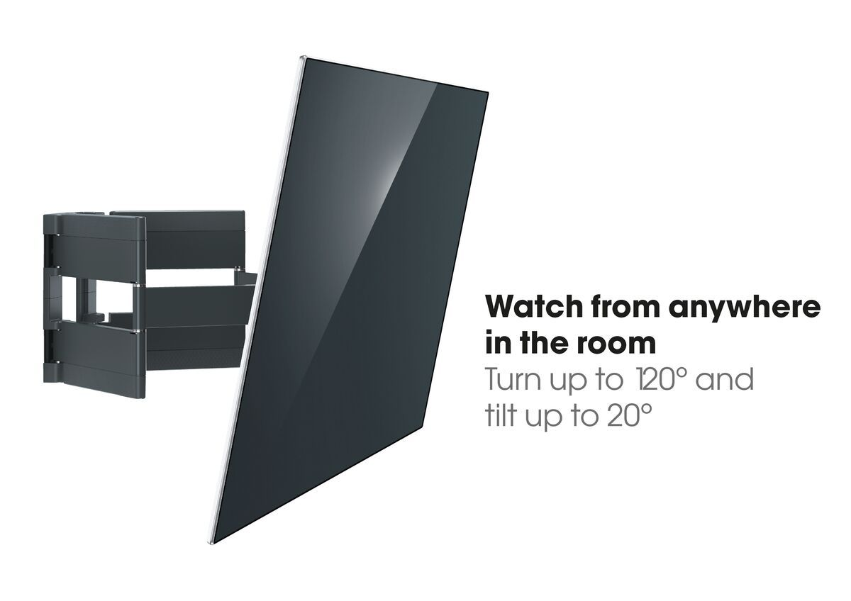 Vogel's THIN 550 ExtraThin Full-Motion TV Wall Mount - Suitable for 40 up to 100 inch TVs - Forward and turning motion (up to 120°) - Tilt up to 20° - USP