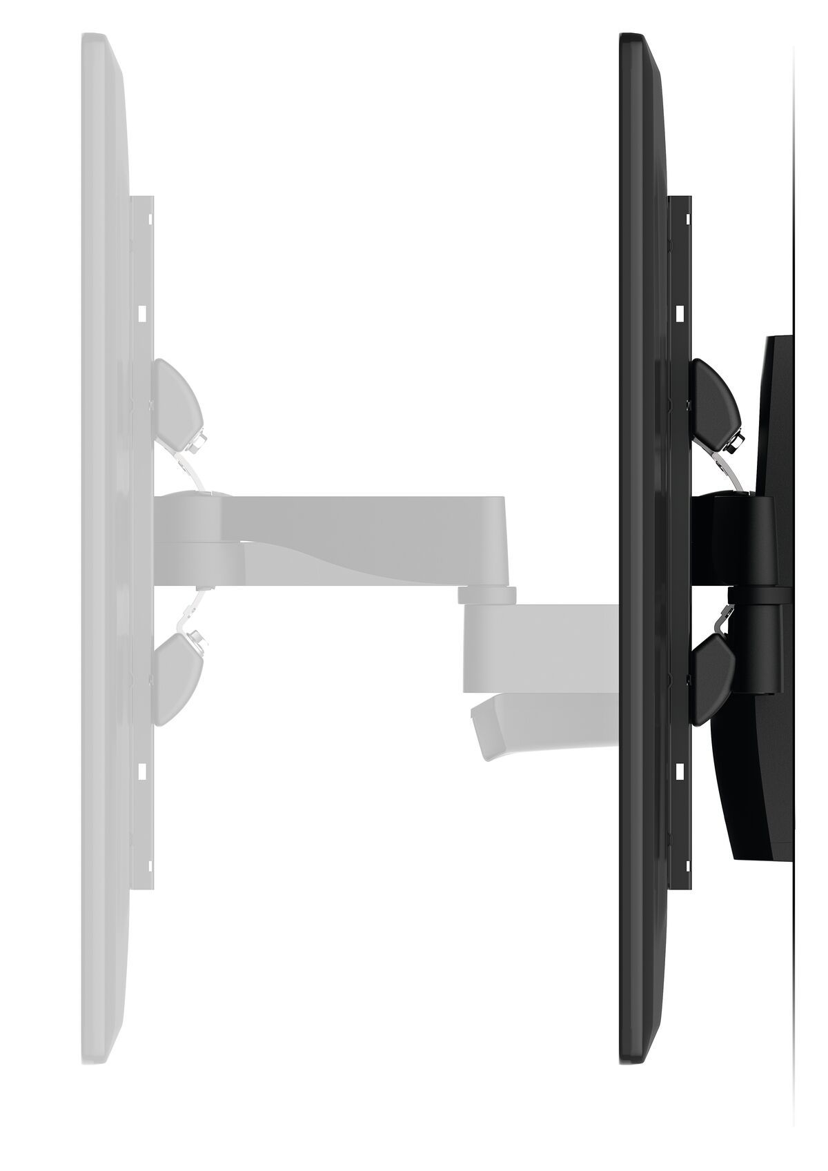 Vogel's WALL 2350 Full-Motion TV Wall Mount - Suitable for 40 up to 65 inch TVs - Motion (up to 120°) - Tilt up to 15° - Side view