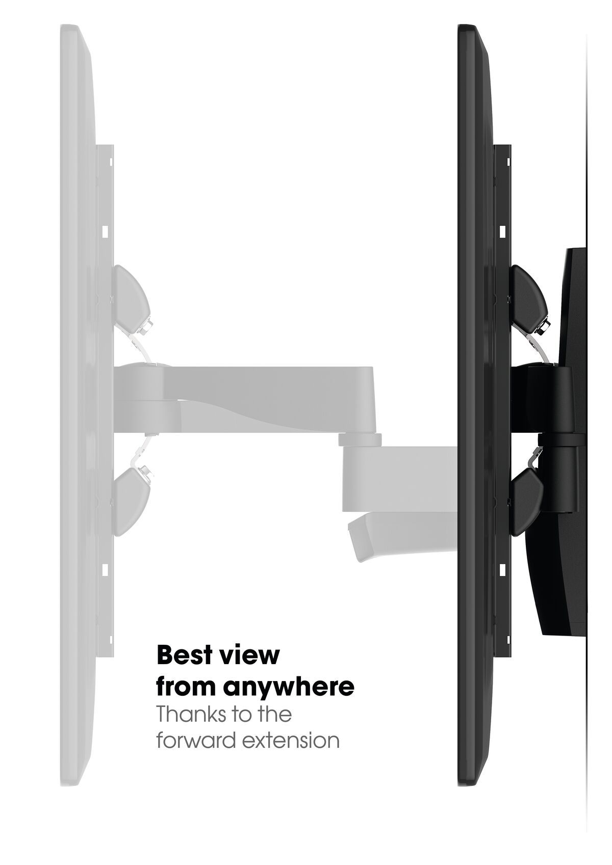 Vogel's WALL 3350 Full-Motion TV Wall Mount - Suitable for 40 up to 65 inch TVs - Forward and turning motion (up to 120°) - Tilt up to 15° - USP