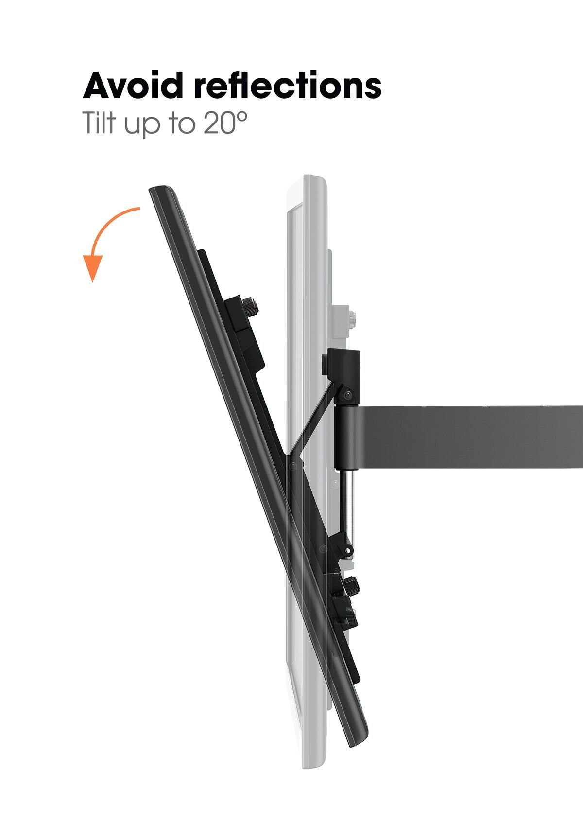 Vogel's WALL 3345 Full-Motion TV Wall Mount (black) - Suitable for 40 up to 65 inch TVs - Full motion (up to 180°) - Tilt up to 20° - USP