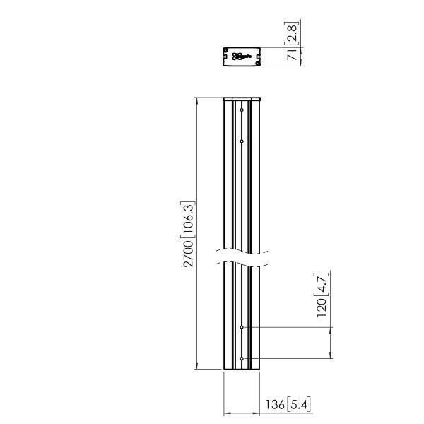 Vogel's PUC 2927 Pole 270 cm - Dimensions