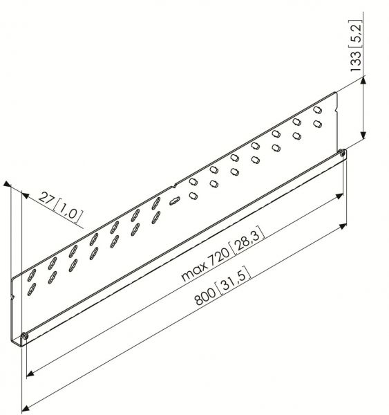 Vogel's PFW 5808 Display-Adapterbar - Dimensions