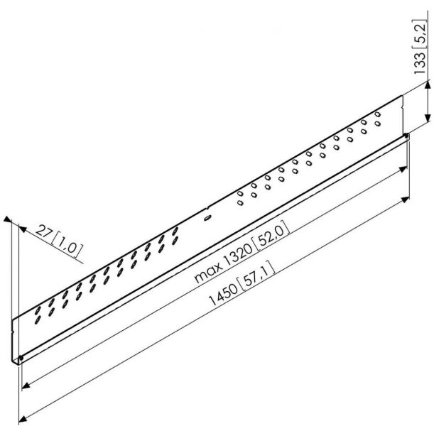 Vogel's PFW 5814 Display-Adapterbar - Dimensions