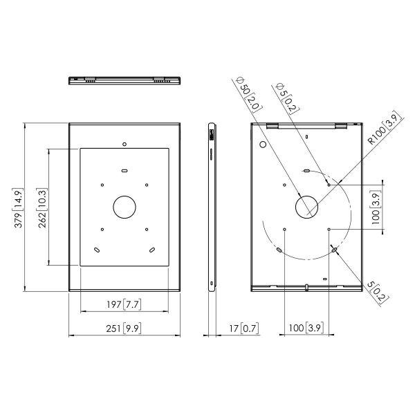 Vogel's PTS 1224 TabLock for iPad Pro 12.9 (2017) - Dimensions