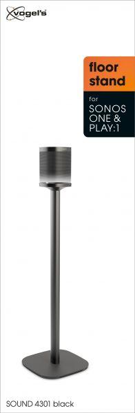 Vogel's SOUND 4301 Speaker stand for SONOS ONE (SL) & PLAY:1 (black) - Packaging front