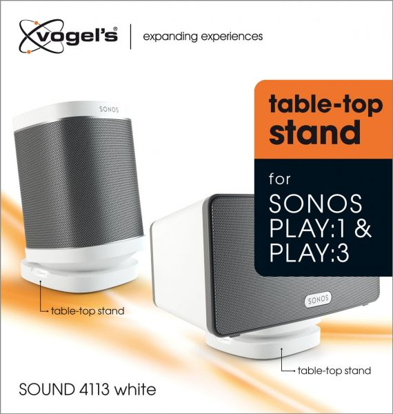 Vogel's SOUND 4113 Support de table pour Sonos One & Play:1, Play:3 (blanc) - Packaging front