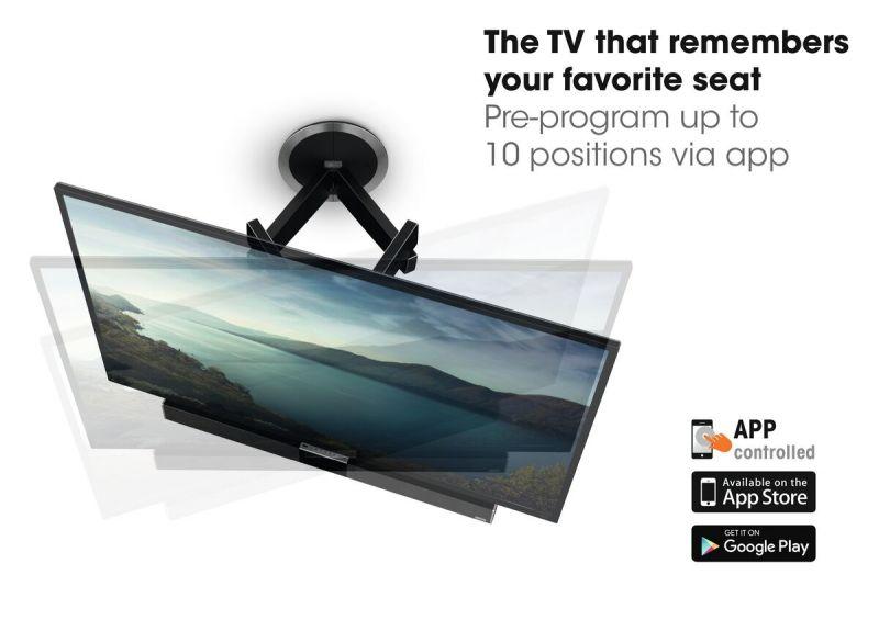 Vogel's MotionSoundMount (NEXT 8375) Elektrisch draaibare tv-beugel met geïntegreerd geluid 30 Draaibaar (tot 120°) USP