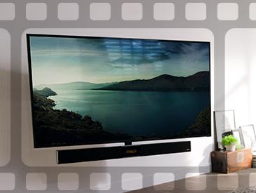 Gira tu televisión para disfrutarla desde cualquier parte del salón.