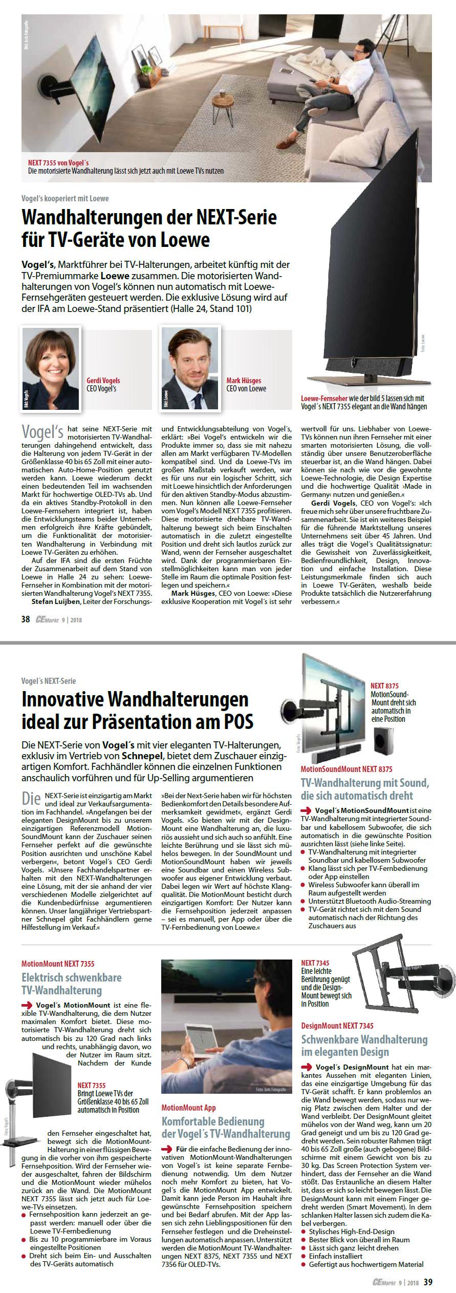 Pressebericht einzigartige Zusammenarbeit Loewe Vogel's