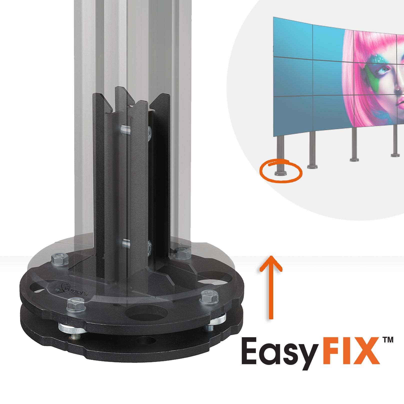 Eenvoudig waterpas stellen, curved videowall | Vogel's