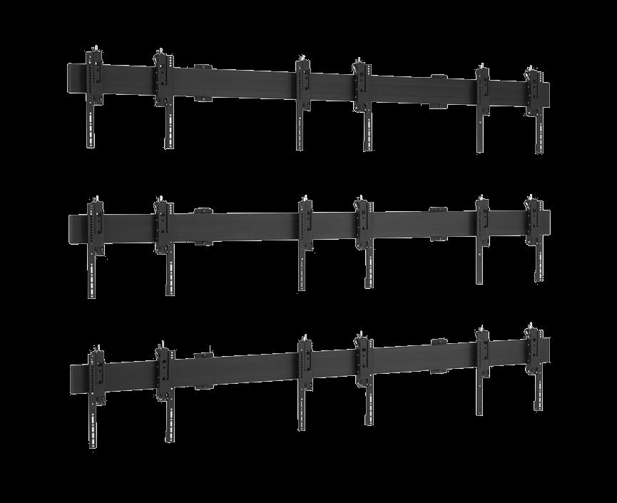 Uniwersalna ściana wideo naścienn 3x3