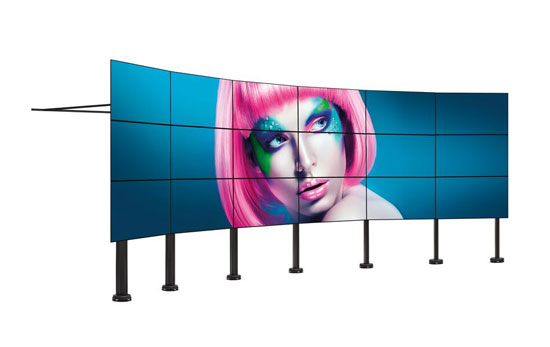 Curved video wall floor solution | Vogel's