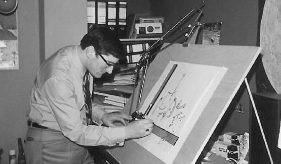 Harry Vogels eerste luidsprekerbeugel