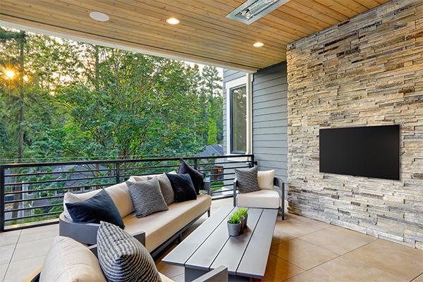 Vogel's |TV-Wandhalterung | Fernseh-Genuß im Freien