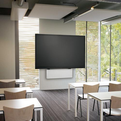 Motorized display lift solution school environment | Vogel's