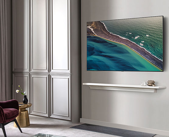 Your Samsung QLED TV mounted beautifully on the wall