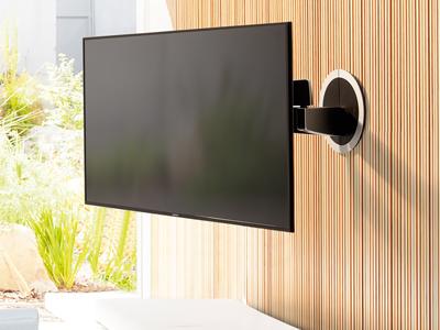 Die Vogel's elektrische TV Wandhalterung, die sich daran erinnert, wo Sie saßen