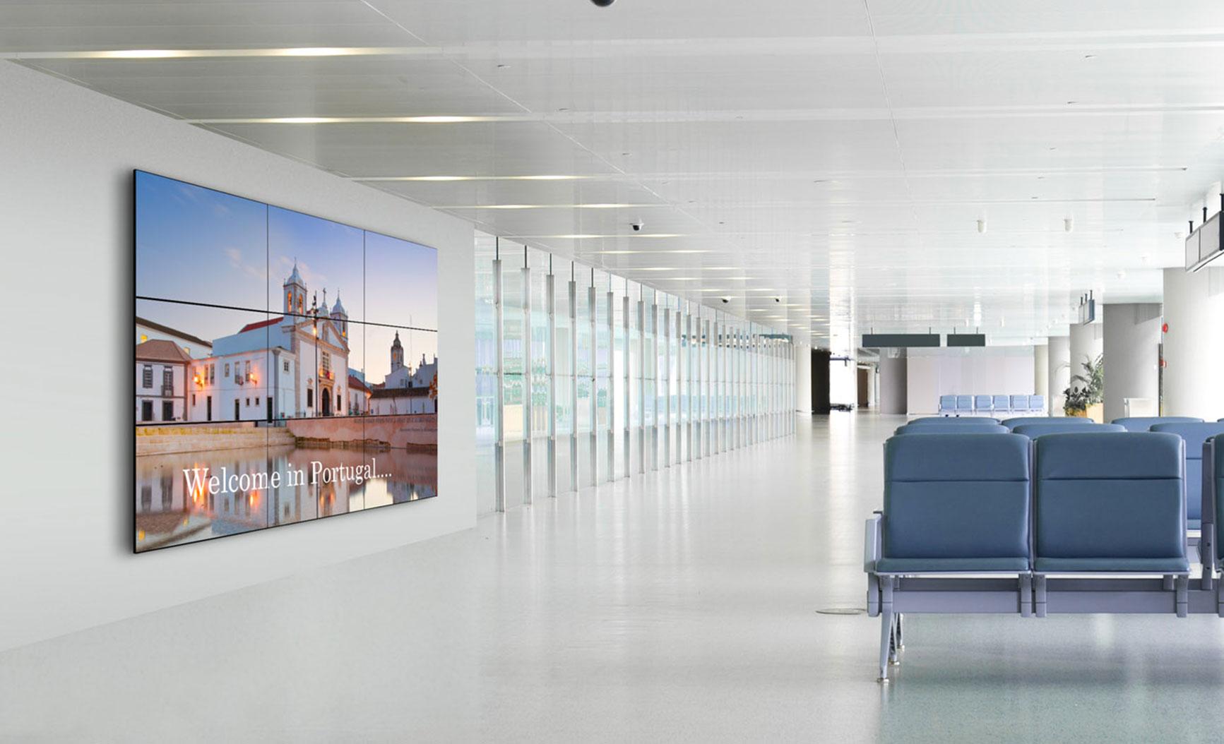 Gemonteerde LCD videowall | Vogel's