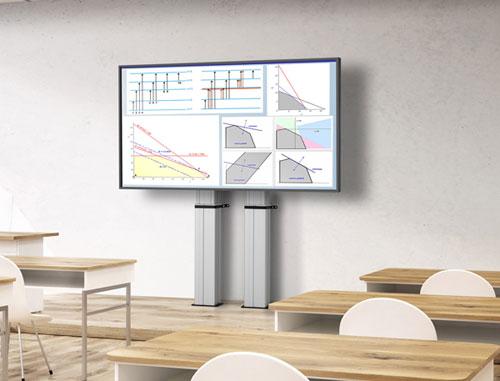 Gemotoriseerde display liftsysteem school omgeving | Vogel's