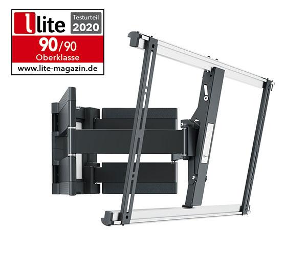 Testurteil lite-Magazin 2020 - THIN 550 Schwenkbare TV Wandhalterung für Fernseher von 40 bis 100 Zoll und bis zu 70 Kilo